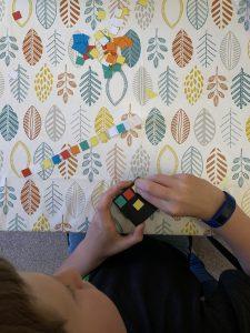 1.5cm by 1.5cm coloured squares