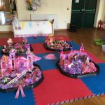 pink mess around messy play birthday party