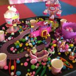 messy play girls birthday party