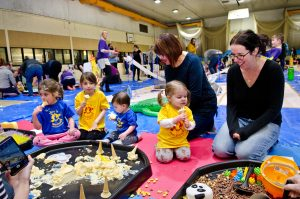 business host family party event messy play