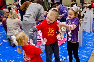 messy play party for business