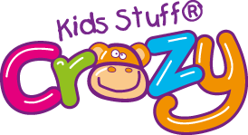 kids stuff crazy logo mess around messy play