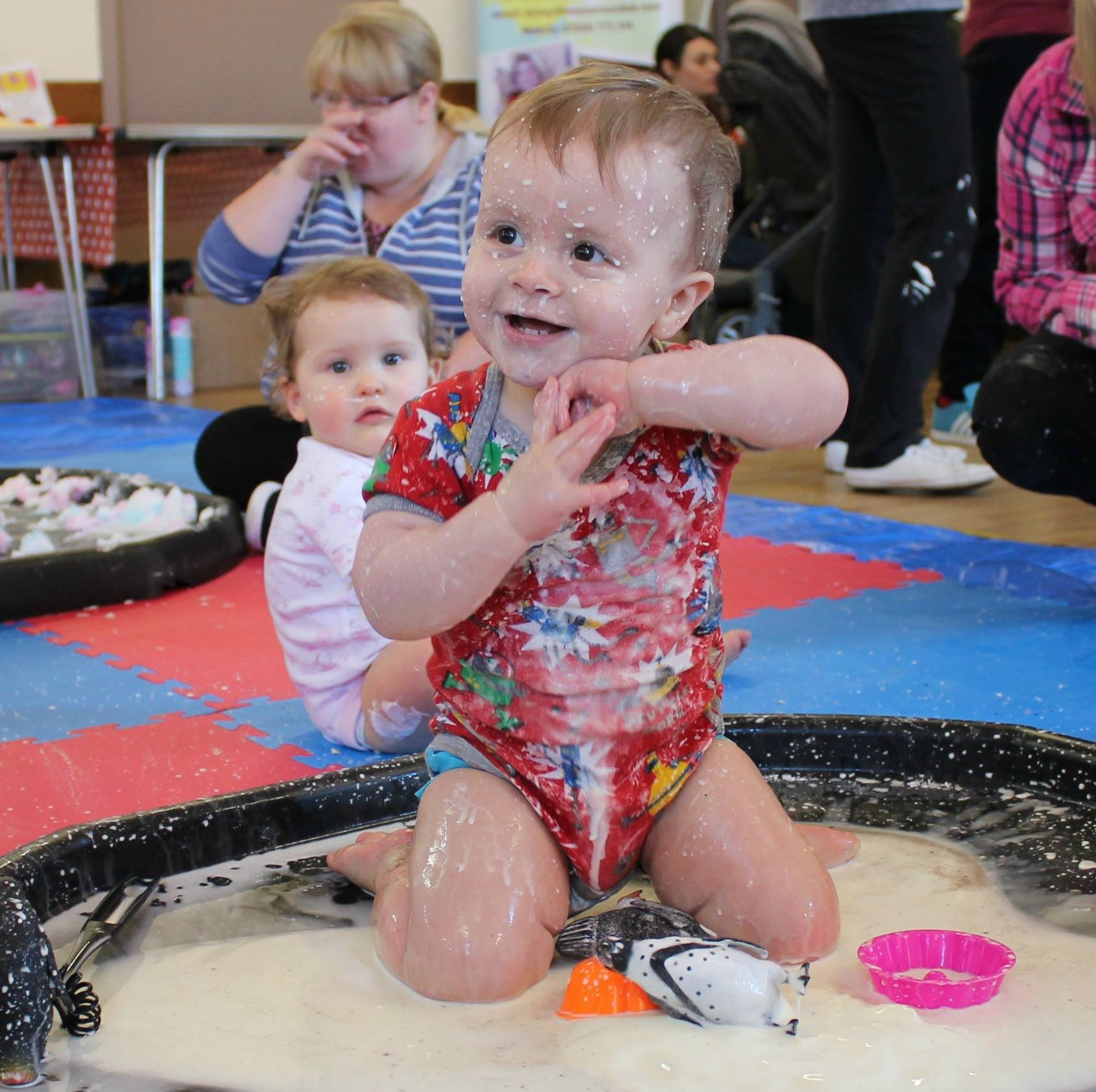 about messy play fun mess around