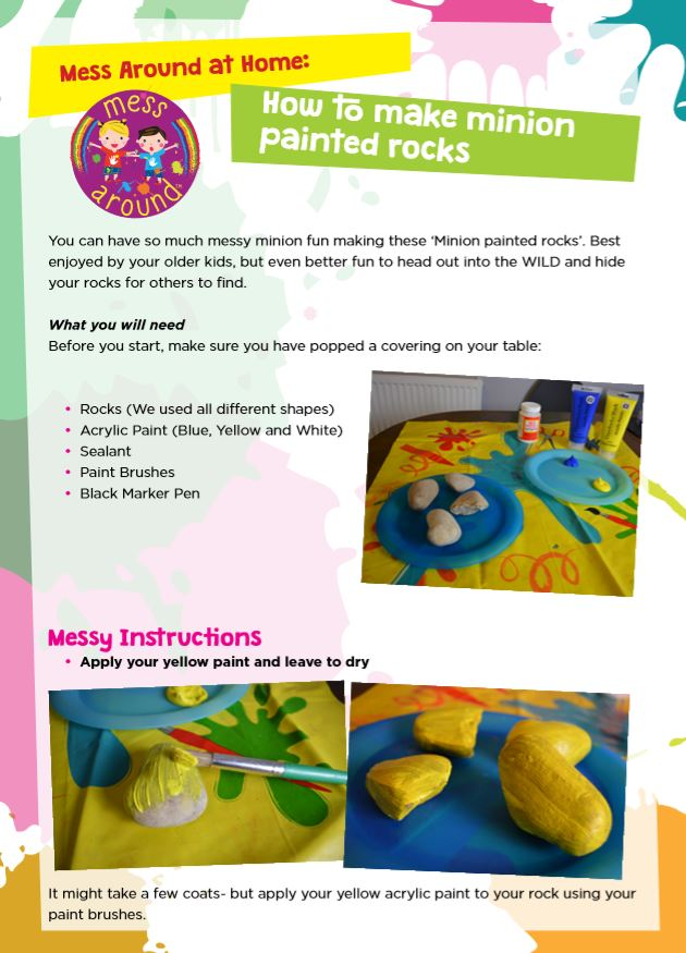 Mess Around at Home: How to make minion painted rocks- Mess