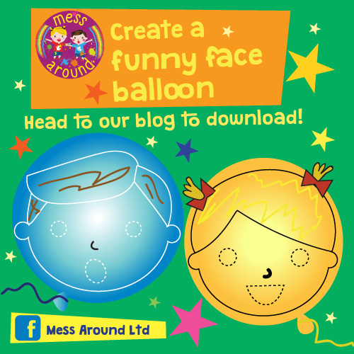 Make a Mess at Home: Make a funny face balloon- Mess Around